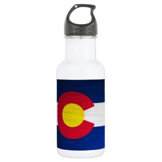 Colorado Flag Brushed 18oz Water Bottle