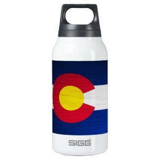 Colorado Flag Brushed 10 Oz Insulated SIGG Thermos Water Bottle