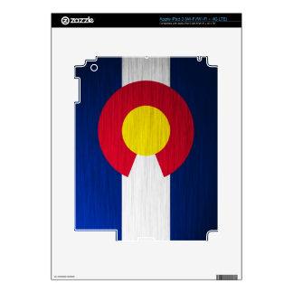 Colorado Flag Brushed iPad 3 Skins