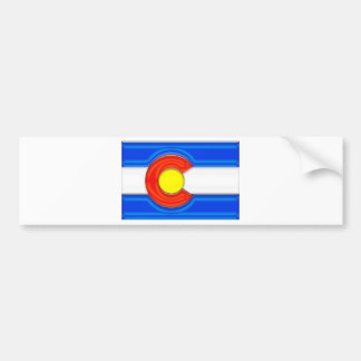 Colorado Flag Bumper Sticker