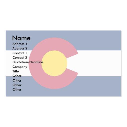 Colorado Flag Business Card