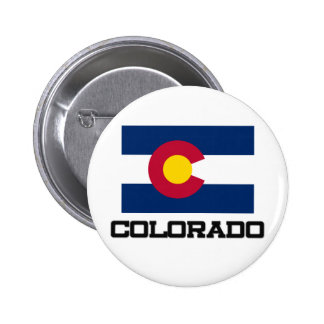 Colorado Flag Pinback Buttons