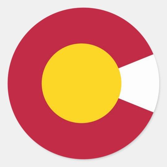 Colorado flag c sticker