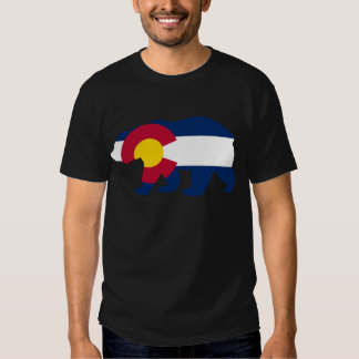 Colorado Flag California Bear T Shirt