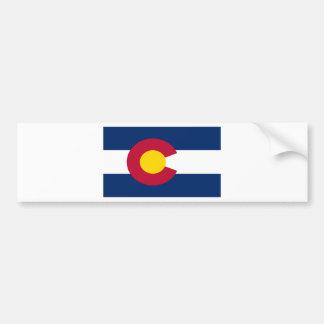 Colorado Flag Car Bumper Sticker