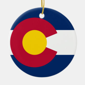 Colorado Flag Ceramic Ornament