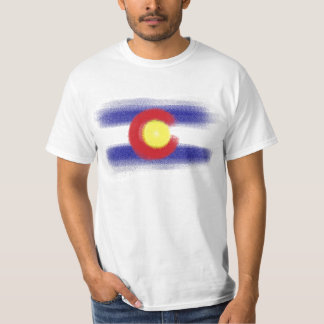 Colorado flag chalk value tee