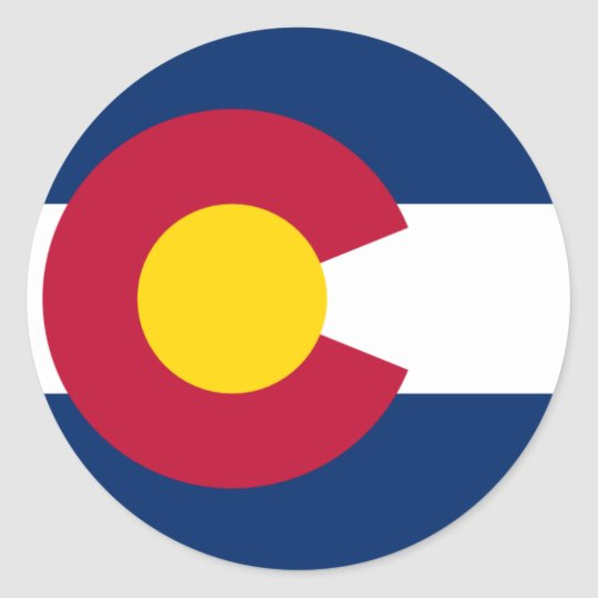 Colorado Flag Classic Round Sticker