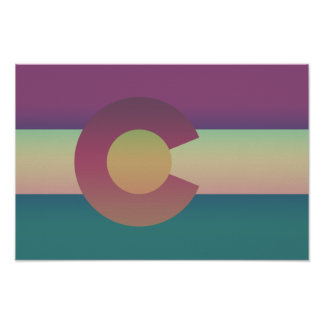 Colorado Flag - Colorful Poster