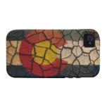 Colorado Flag Cracked Mud Case-Mate iPhone 4 Cases
