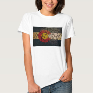Colorado Flag Cracked Mud T-shirt