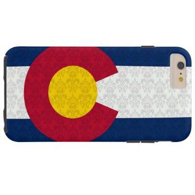 Colorado Flag Damask Pattern Tough iPhone 6 Plus Case