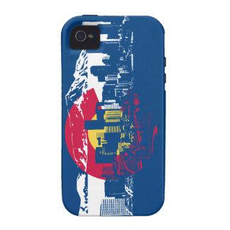 Colorado Flag - Denver Skyline - iPhone 4/4S Case