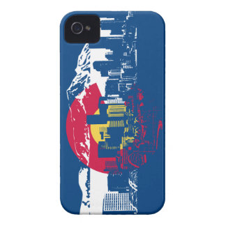 Colorado Flag - Denver Skyline - Case-Mate iPhone 4 Case