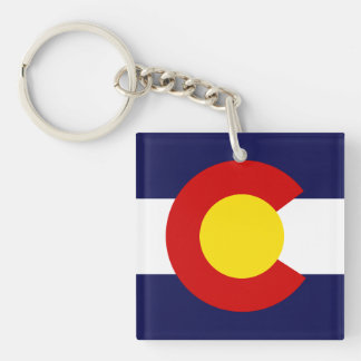 COLORADO Flag Design - Keychain