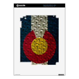 Colorado Flag Diamond Plate iPad 2 Decal