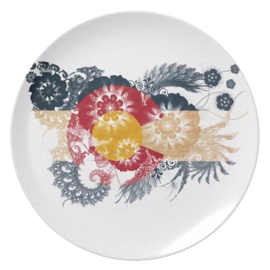 Colorado Flag Dinner Plate
