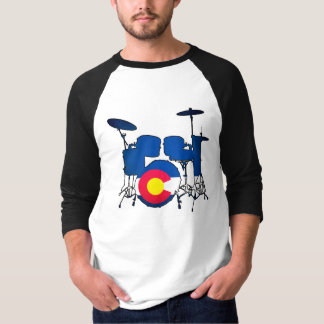 Colorado flag drums mens shirt