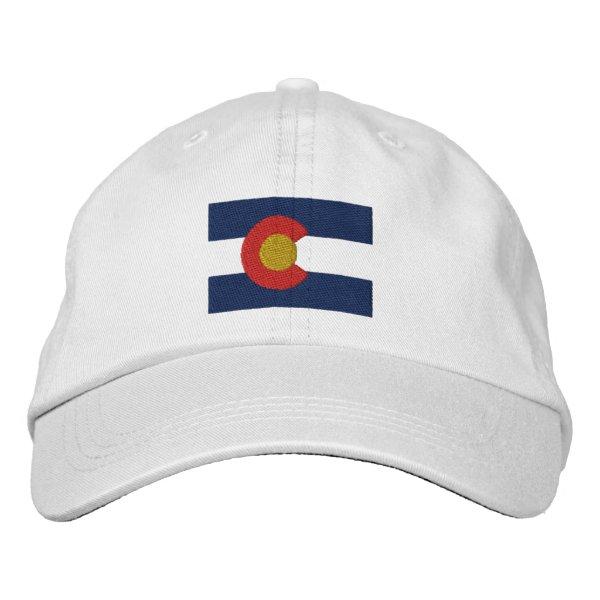 Colorado  Flag Embroidered Baseball Hat