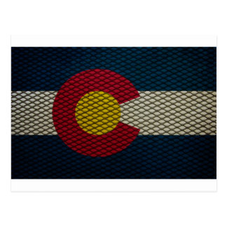 Colorado Flag Expanded Metal Awesome Postcard
