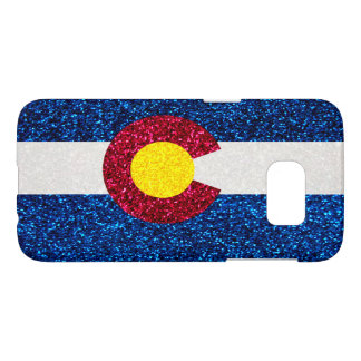 Colorado flag faux glitter Samsung Galaxy S7 case