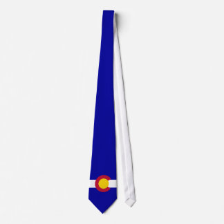 Colorado Flag full bleed blue background Neck Tie