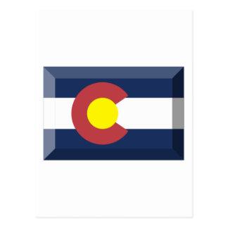 Colorado Flag Gem Postcard
