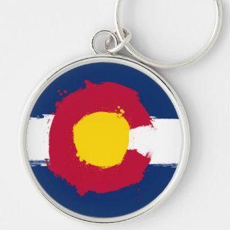 Colorado Flag Grunge Keychain