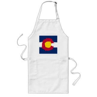 Colorado Flag Grunge Long Apron