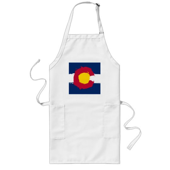 Colorado Flag Grunge Long Apron