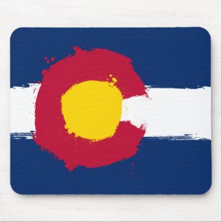 Colorado Flag Grunge Mouse Pad