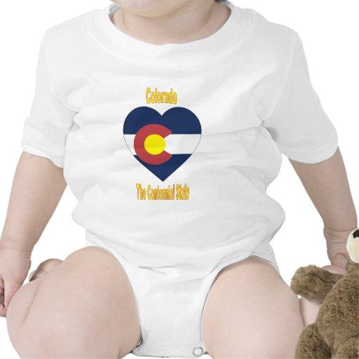 Colorado Flag Heart Tee Shirt