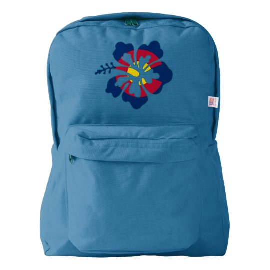 Colorado Flag Hibiscus Flower Backpack Zazzlecom