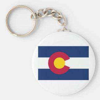 Colorado Flag Basic Round Button Keychain
