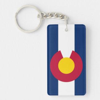Colorado flag keychain