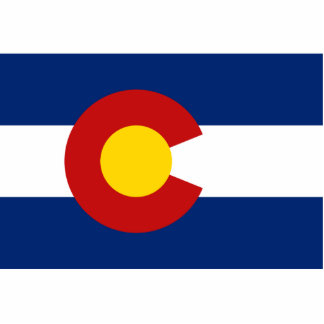 Colorado Flag Keychain Cut Out
