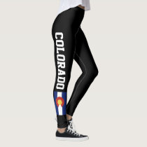 Colorado flag leggings for fitness sports workout