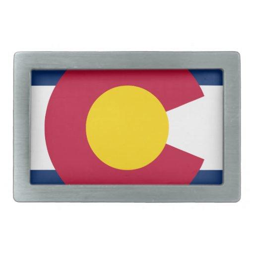 Colorado Flag Logo Belt Buckle