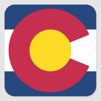 Colorado Flag Logo Square Sticker