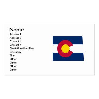 Colorado Flag Map Business Card