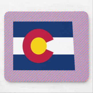 Colorado Flag Map Mouse Pads