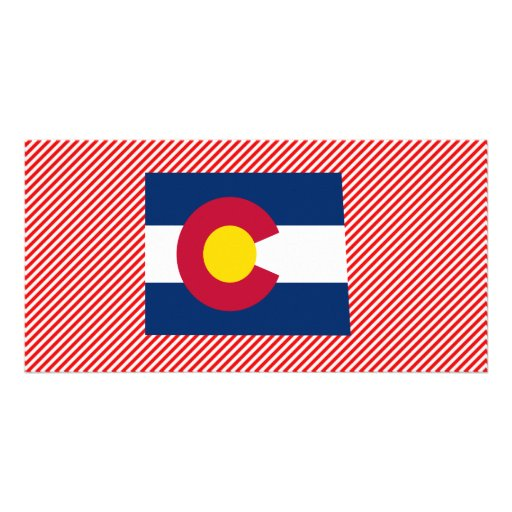 Colorado Flag Map Personalized Photo Card