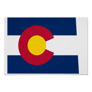 Colorado Flag Map Posters