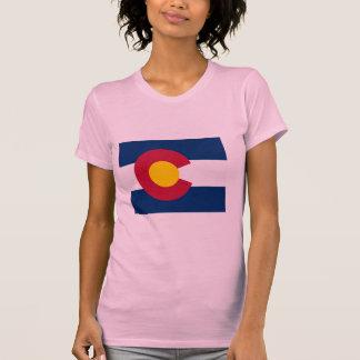 Colorado Flag Map T-shirts