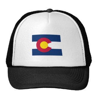 Colorado Flag Map Trucker Hats