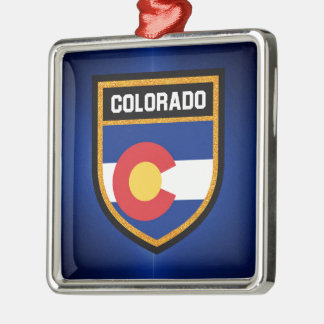 Colorado Flag Metal Ornament