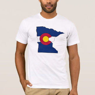 Colorado flag Minnesota outline guys shirt