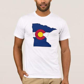 Colorado flag Minnesota outline guys shirt