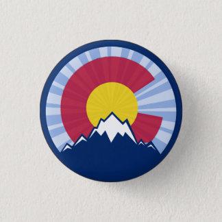 Colorado flag mountain burst pin button