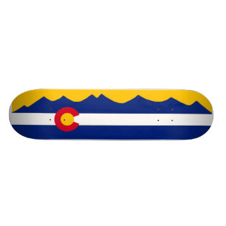 Colorado Flag Mountain Range Skate Deck